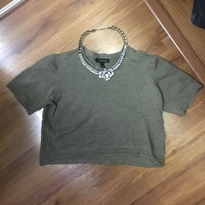 Olive Crop Sweater (Worn Once)
